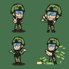 I am Thai soldier Emoji