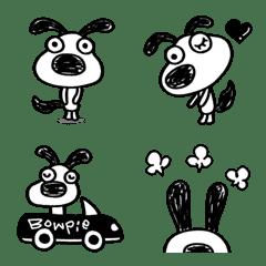 Dog Bowpie Monochrome Emoji