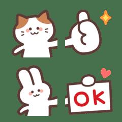 อิโมจิไลน์ Cute Cat&Rabbit Connect EMOJI