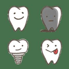 Kawaii Tooth Emoji