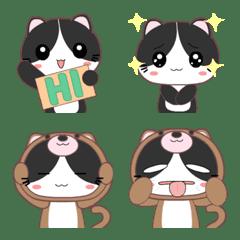 Tuxedo Cat Emoji