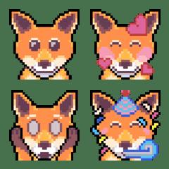 อิโมจิไลน์ Fox Pixel Art Emotions (Version 2)