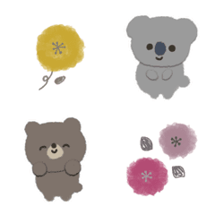 Adorable animals and flowers