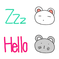 Dekamoji Animal English Emoji