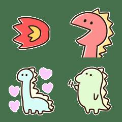 อิโมจิไลน์ ไดโนเสาร์ที่เรียบง่ายน่ารัก