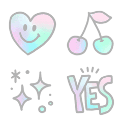 Aurora color emoji.
