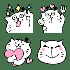 cheerful white cat