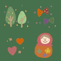 Simple Nordic lovely cute kawaii heart