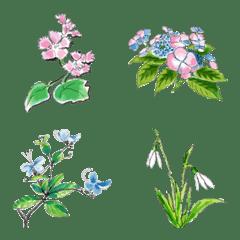 อิโมจิไลน์ Language of flowers by Emoji