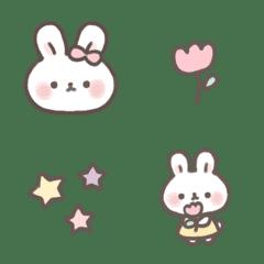 อิโมจิไลน์ Pastel mochi rabbit chan