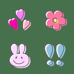 adult Kawaii simple emoji