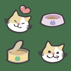 半半貓日常 -- 手繪風貓咪表情貼
