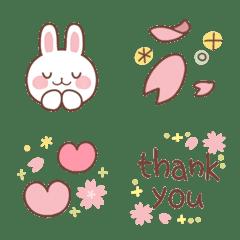 อิโมจิไลน์ Sakura color emoji 3
