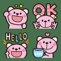 Pink Pink bear Emoji 2