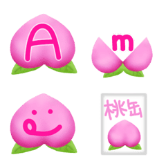 144 peach characters Alphabets & numbers