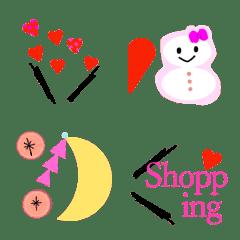 Simple and cute emoji handw...