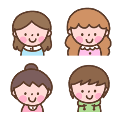 Various cute girls emoji