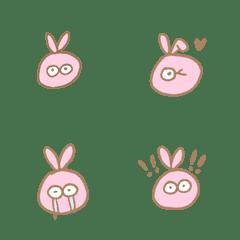 A pink rabbit
