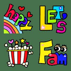 colorful pretty Emoji
