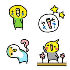 Emoji of parakeet friends