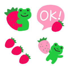 Strawberry and frog