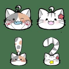 小花貓可愛表情貼1