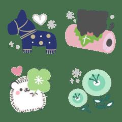 อิโมจิไลน์ Cute word end Nordic style Emoji5