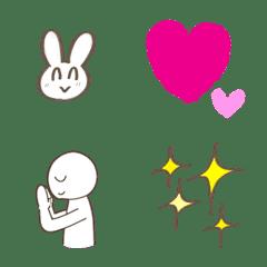 อิโมจิไลน์ usagi rabbit human emoji