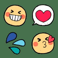 อิโมจิไลน์ Cute Smile Crayon Simple Emoji