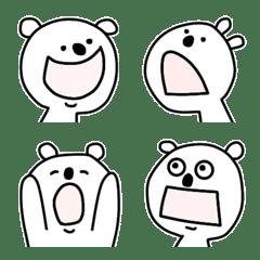 อิโมจิไลน์ Yuru polar bear2