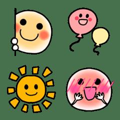 อิโมจิไลน์ Cute Smile Simple () inside Emoji