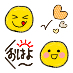Emoji of smiling yellow face