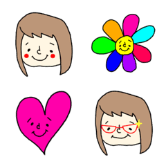 อิโมจิไลน์ (Everyday) Girl's expressions