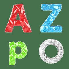 อิโมจิไลน์ Colorful gems - letters and Numbers