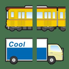 อิโมจิไลน์ connected various vehicle emoji 5
