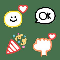 อิโมจิไลน์ simple colorful Emoji (2)