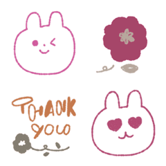 Colorful bunnies and flowers