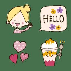 Oshakawa Girl  PINK Emoji