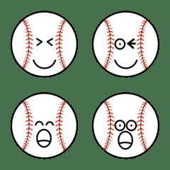 อิโมจิไลน์ I Love baseball Emoji