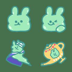 อิโมจิไลน์ slime rabbit poto emoji
