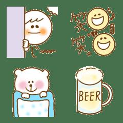 อิโมจิไลน์ fuwakawaii emoji