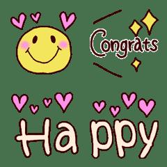 อิโมจิไลน์ Simple congratulations Emoji