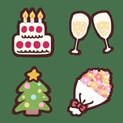 อิโมจิไลน์ Pop Emoji (Celebration)