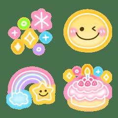 อิโมจิไลน์ kawaii neon emoji