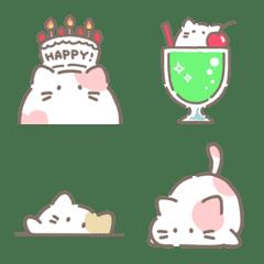 อิโมจิไลน์ A variety emojis of cats like mochi.