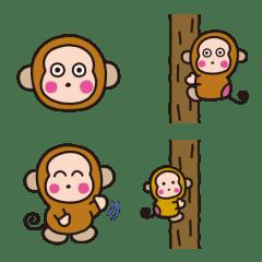 ลิงโอซารุโนะมอนคิจิ อิโมจิ