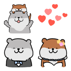 อิโมจิไลน์ (Emoji) Otter congratulations