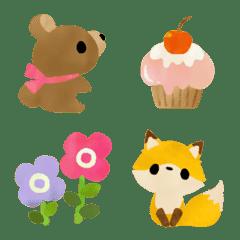 อิโมจิไลน์ Forest animals party emoji