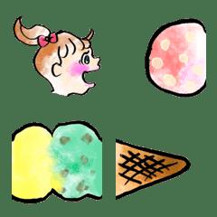 อิโมจิไลน์ Food Stretch Emoji