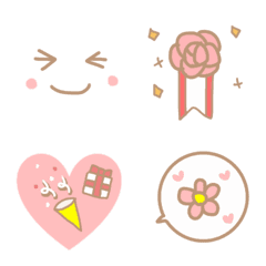 อิโมจิไลน์ Adult cute festive emoji